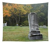 New England Graveyard During The Autumn  Tapestry