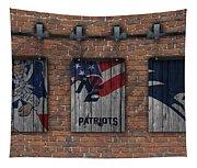 New England Patriots Brick Wall Tapestry
