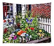 New Hope Pa - Garden Of Ceramic Mushrooms Tapestry