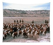New Mexico Cattle Drive Tapestry