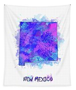 New Mexico Map Watercolor 2 Tapestry