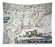 New Netherland Map Tapestry