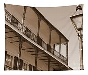 New Orleans Balcony With Lamp Tapestry