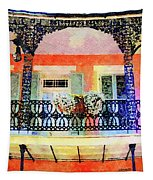 New Orleans French Quarter Balcony Tapestry