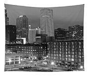New Orleans In Black And Night Tapestry