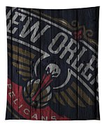 New Orleans Pelicans Wood Fence Tapestry