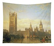 New Palace Of Westminster From The River Thames Tapestry