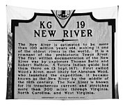 New River Historical Marker Tapestry