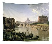 New Rome With The Castel Sant Angelo Tapestry