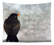 New Years Card Tapestry