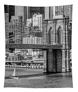 New York City Brooklyn Bridge And East River Tapestry