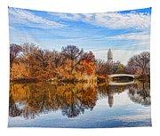 New York City Central Park Bow Bridge - Impressions Of Manhattan Tapestry