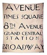 New York City Street Sign Tapestry