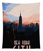 New York City Sunset Tapestry