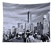 New York City Tourists Tapestry