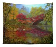 New York In Fall Tapestry