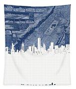 New York Skyline Map 2 Tapestry