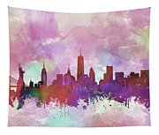 New York Skyline Watercolor 3 Tapestry