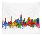 New York  Skyline Watercolor Tapestry