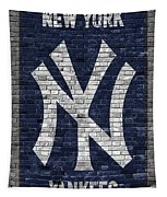 New York Yankees Brick Wall Tapestry