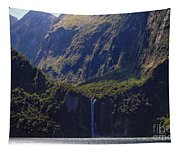 New Zealand Stirling Falls In Hanging Valley Tapestry