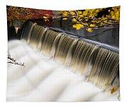 Newton Upper Falls Autumn Waterfall Tapestry