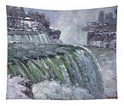 Niagara Falls In Winter  Tapestry