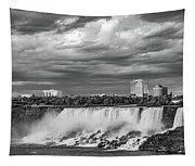Niagara Falls - The American Side 3 Bw Tapestry
