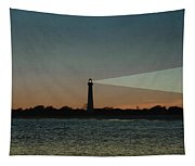 Night At Cape May Lighthouse Tapestry