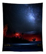 Night At Pirate's Lagoon Tapestry
