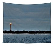 Night Beacon - Cape May Lighthouse Tapestry