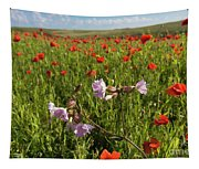 Night Flowering Catchfly And Poppies Tapestry