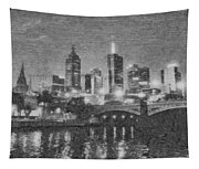 Night Landscape In Melbourne Tapestry