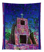 Night Magic San Miguel Mission Tapestry