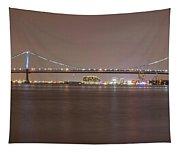 Night On The Delaware - The Benjamin Franklin Bridge Tapestry