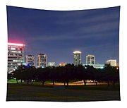 Night Pano Of Fort Worth Tapestry