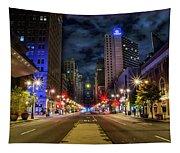 Night Shot Of Broad Street - Philadelphia Tapestry