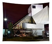 Night Time At The Rock Hall Tapestry