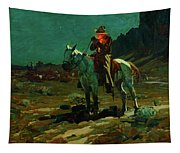 Night Time In Wyoming Tapestry