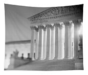 Night Us Supreme Court Washington Dc Tapestry
