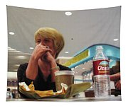 Nighthawks At The Foodcourt Tapestry