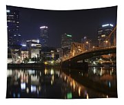Nighttime In The City Tapestry