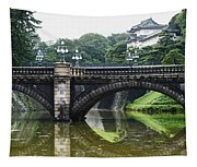 Nijubashi Bridge At Imperial Palace Tapestry