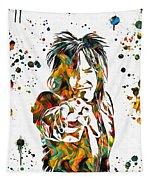 Nikki Sixx Paint Splatter Tapestry