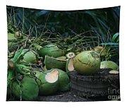 Niu Hawaiian Coconuts Hooululahui Kahekilinui Wailuku Tapestry