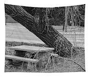 No One Sits Here In Black And White Tapestry