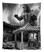 No Reservations Bw Dinosaur Deys Tapestry