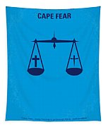 No014 My Cape Fear Minimal Movie Poster Tapestry