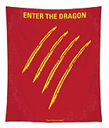 No026 My Enter The Dragon Minimal Movie Poster Tapestry
