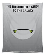 No035 My Hitchhiker Guide Minimal Movie Poster Tapestry